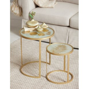 Nested Metal 2 Piece End Tables by Cape Craftsmen