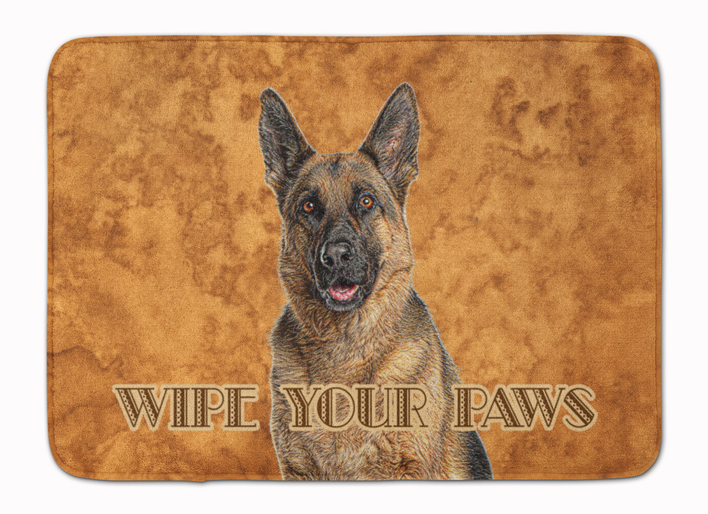 East Urban Home German Shepherd Wipe Your Paws Rectangle Microfiber Non Slip Bath Rug Wayfair