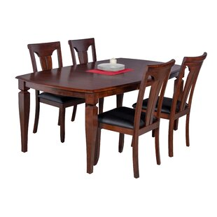 Besse 5 Piece Breakfast Nook Solid Wood Dining Set
