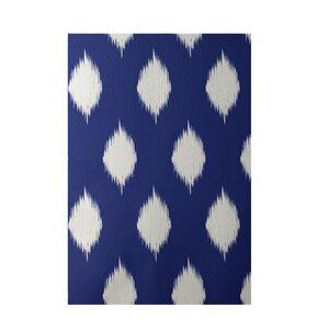 Geometric Royal Blue Indoor/Outdoor Area Rug