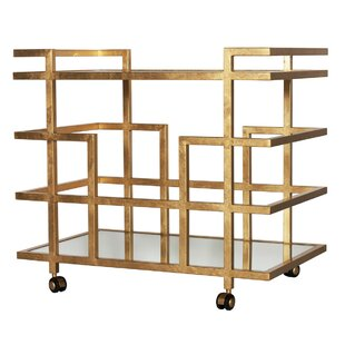 Ireland Linear Bar Cart by Worlds Away