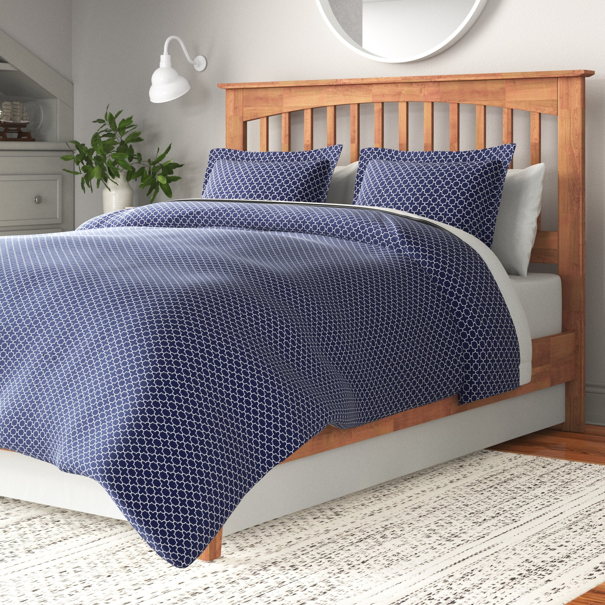 Abstract Navy Duvet Covers Sets You Ll Love In 2021 Wayfair