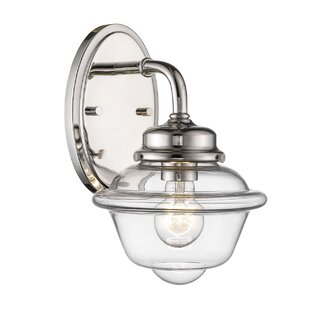 Reviews Julia 1-Light Armed Sconce By Breakwater Bay