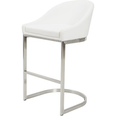 "26"" Bar Stool Upholstery: White by Wade Logan"