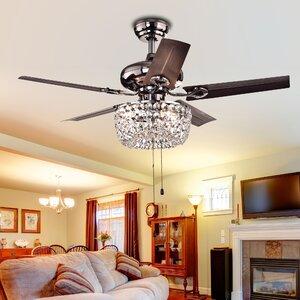 Aslan 3-Light Bowl 5 Blade Ceiling Fan