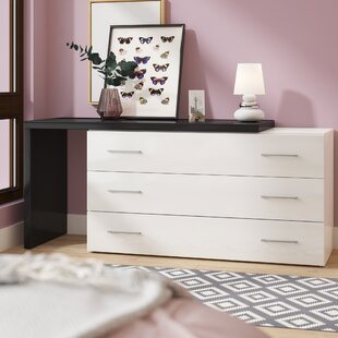 Elettra Contemporary 3 Drawer Dresser by Wade Logan