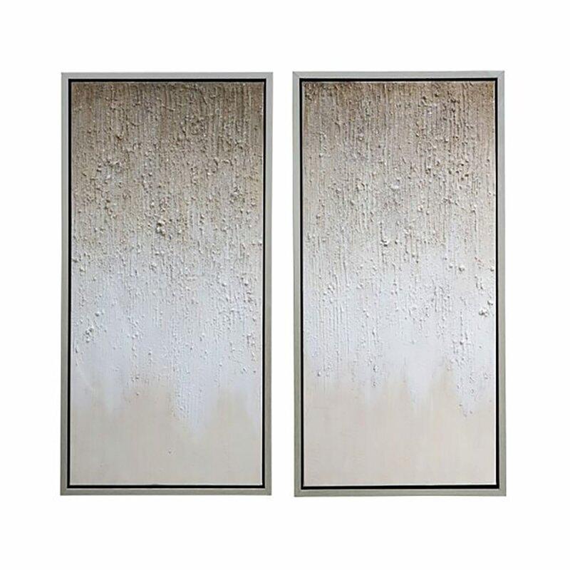 Orren Ellis Stardusk 2 Piece Floater Frame Panoramic Painting Print Set On Canvas Wayfair