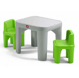 Mighty My Size Kids 3 Piece Table Chairs Set