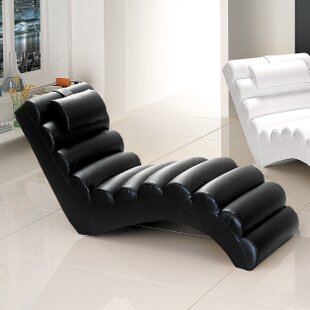 Dariell Faux Leather Chaise Lounge