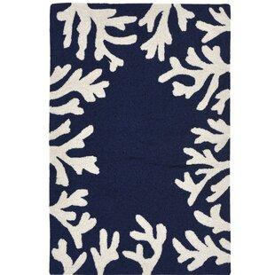 Claycomb Hand-Tufted Navy Indoor/Outdoor Area Rug