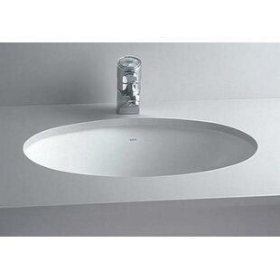 Reviews Vitreous China Oval Undermount Bathroom Sink with Overflow By Cheviot Products