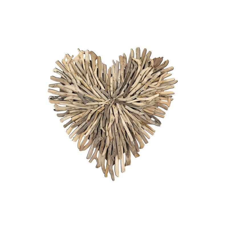 Bungalow Rose Driftwood Heart Shaped Wall Decor Reviews Wayfair