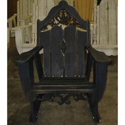 Uwharrie Chair Veranda Solid Wood Rocking Adirondack Chair