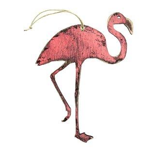 Flamingo Wooden Ornament Set Of 3
