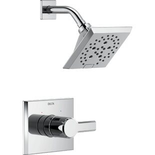 Delta Pivotal 14 Series Shower Faucet Trim with Lever Handles and H2okinetic Technology