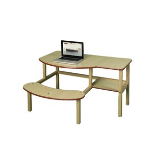 PreSchool Buddy Manufactured Wood 19 Student Computer Desk by Wild Zoo