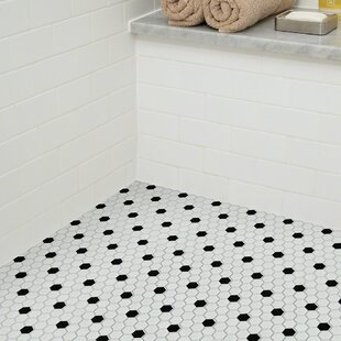 Sophisticated 0 7 X Porcelain Mosaic Tile In White Black