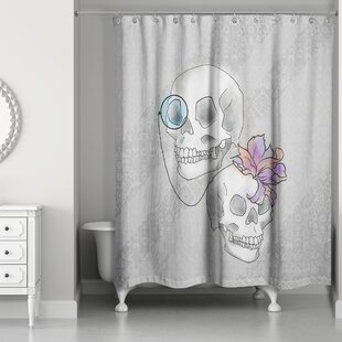 Skulls Single Shower Curtain