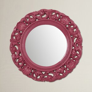 Pink Wall Mirror pink mirrors you'll love | wayfair