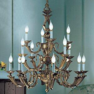 Alexandria III 16-Light Candle-Style Chandelier