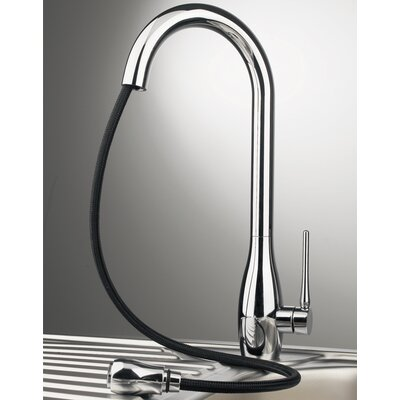 High-Arc 1 Handle Pull Out Sprayer Faucets Kitchen Tap with Dual Function White