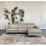 Balsano Leather 107 Reclining Sectional by Orren Ellis