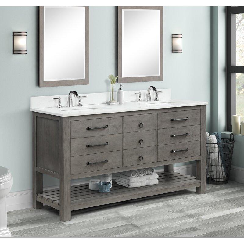 Millwood Pines Plante 61 Double Bathroom Vanity Set Wayfair