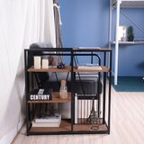 Haag Metal Frame Standard Bookcase by 17 Stories