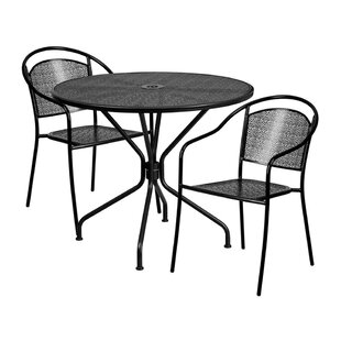 Romy Outdoor Steel 3 Piece Dining Set by Ebern Designs New Design