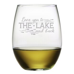 Love You To The Lake 21 Oz. Stemless Wine Glass (Set Of 4) by Susquehanna Glass Purchase
