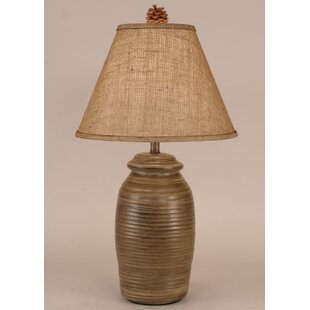 Rustic Living Small Ribbed Pot 27 Table Lamp