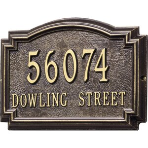 Personalized Williamsburg 2-Line Wall Address Plaque