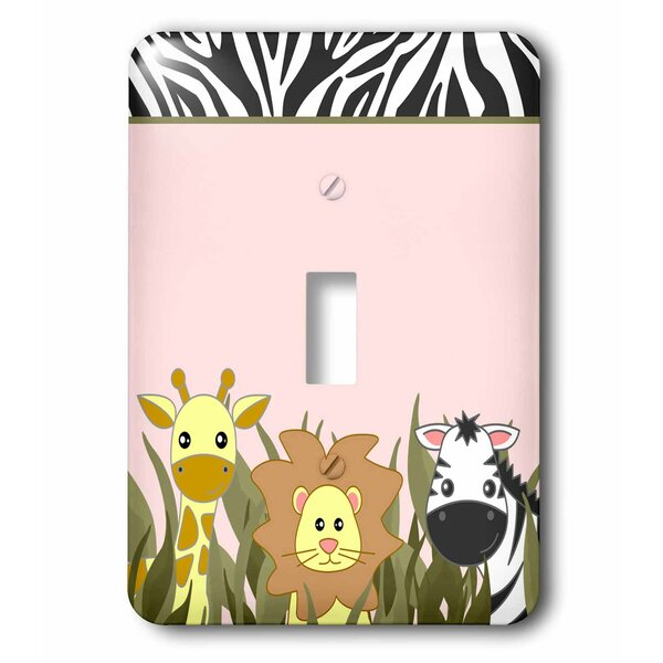 3drose Cute Baby Jungle Animals On Giraffe Lion Zebra 1 Gang Toggle Light Switch Wall Plate Wayfair