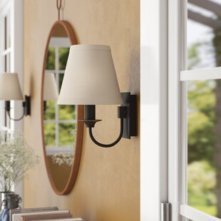 Best Reviews Eubanks 11 Pin-up 1-Light Armed Sconce By Three Posts