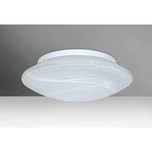 Compare Sola 3-Light Outdoor Flush Mount By Besa Lighting