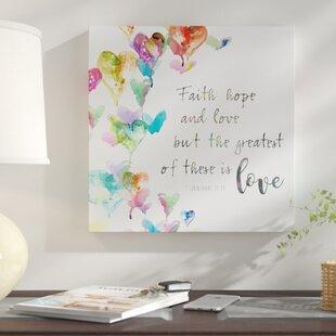 Faith Hope And Love Textual Art