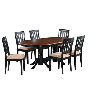 Schacht 7 Piece Extendable Solid Wood Dining Set