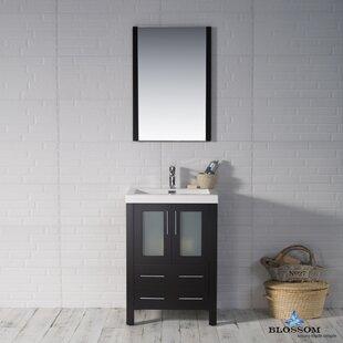 Mance 24 Single Bathroom Vanity Set with Mirror By Orren Ellis