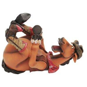 Cowboy/Horse 1 Bottle Tabletop Wine Rack ..