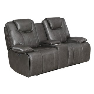Almada Leather Reclining Loveseat by Latitude Run SKU:AB686884 Shop