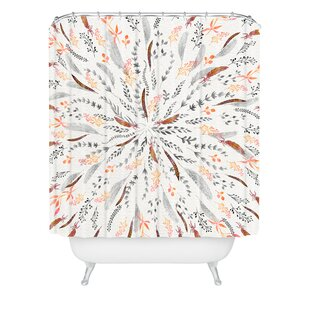 Feather Roll Shower Curtain by East Urban Home