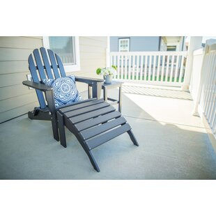 Mack Plastic Folding Adirondack Chair with Table and Ottoman by Rosecliff Heights