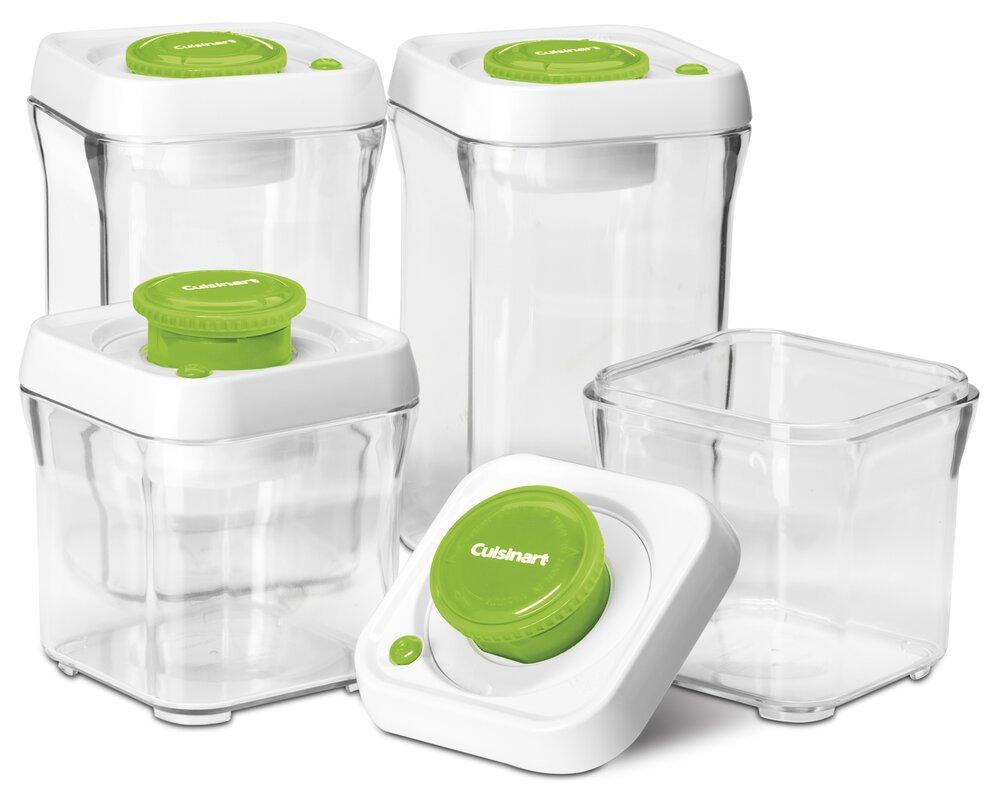 Fresh Edge Vacuum-Seal 8 Container Food Storage Set