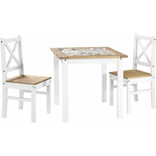 Cockerham Dining Set With 2 Chairs By Brambly Cottage