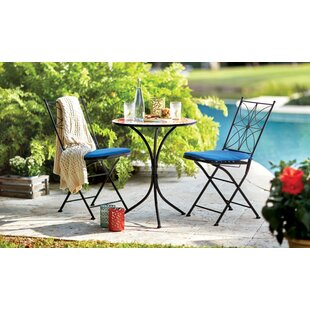 Whitman Mosaic 3 Piece Bistro Set with Cushions