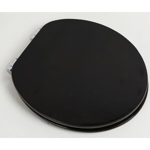 wooden black toilet seat. Contemporary Full Cover Solid Oak Wood Round Toilet Seat Black Seats You ll Love  Wayfair
