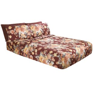 August Grove Costa Floral Microfiber Sheet Set