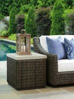 Cypress Point Ocean Terrace Stone/Concrete Side Table by Tommy Bahama Outdoor
