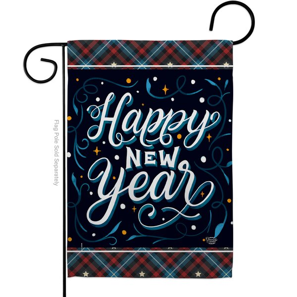 Ornament Collection Bring New Year Impressions Decorative 2 Sided Polyester 19 X 13 In Garden Flag Wayfair