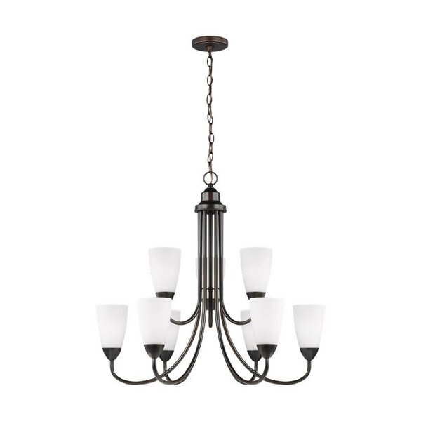 Winston Porter Jaylene 9 Light Shaded Chandelier